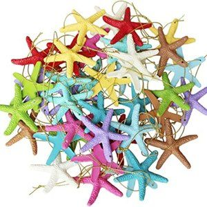 LJY 40 Pieces 6cm Resin Pencil Finger Starfish wit